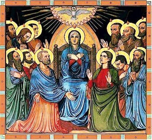 Maryja Panna w pięćdziesiątnicy