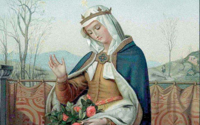malunek świętej Elżbiety