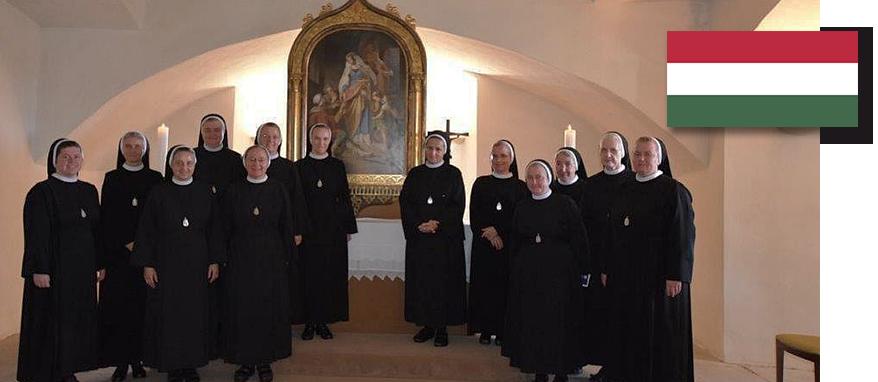 zdjęcie grupowe sióstr na Węgrzech